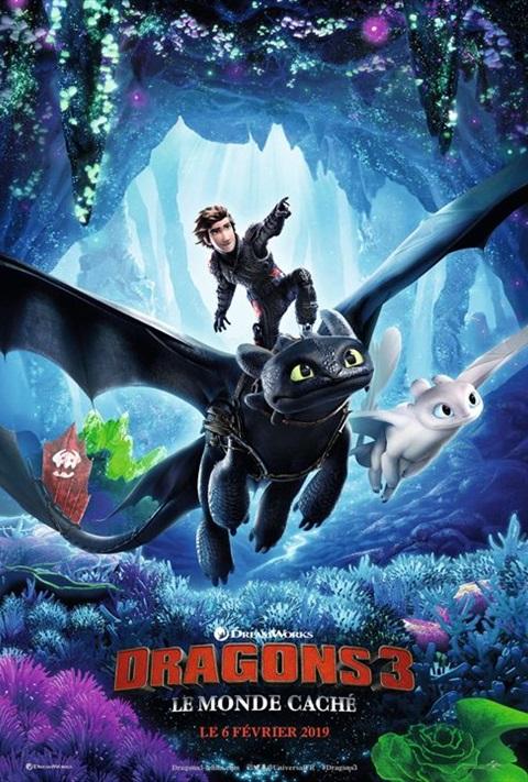 affiche Dragons 3: Le Monde Caché