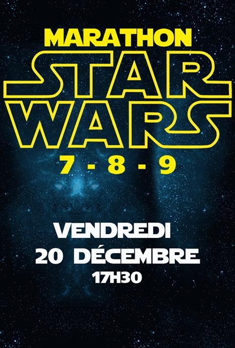 affiche Star Wars 7+8+9 marathon