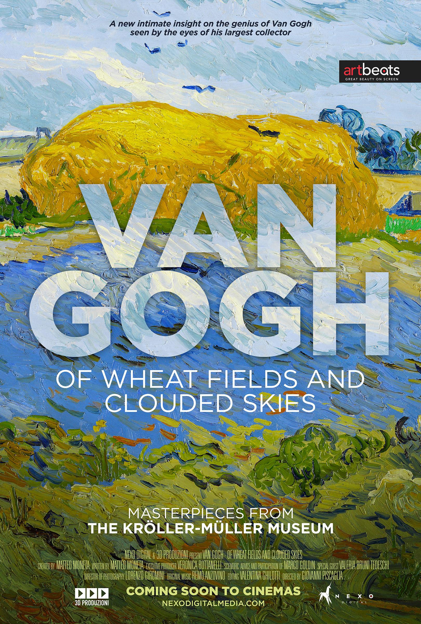 Van Gogh - vehnäpeltoja ja pilvisiä taivaita